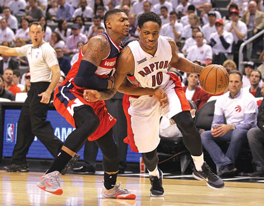 Raptors 108-98 a Wizards en 5º juego de Playoffs de NBA
